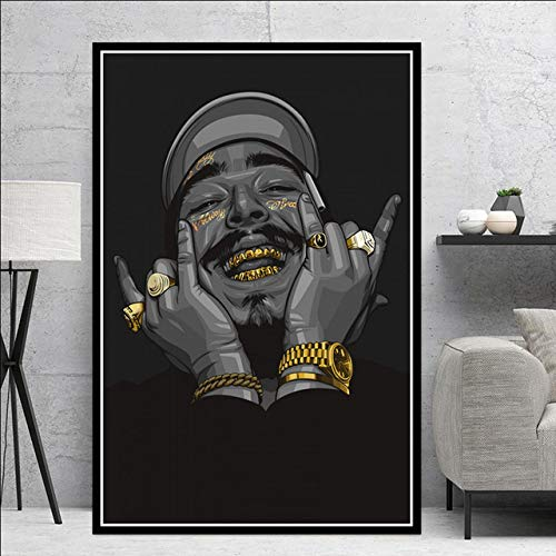 hllhpc Wall Art- Póster y Impresiones Post Malone Hip Hop