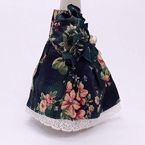 kawenSTOFFE Puppenkleid Trachtenkleid in Größe 48 cm mit Spitzenunterrock