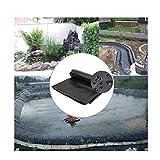 LJIANW PVC Teichfolie, Teichfolie, HDPE Flexibel Schwerlast Reißfest Tarps Zum Wassergarten Bachbrunnen Schwimmen, 0,6 MM, (Color : Black, Size : 1x3m)
