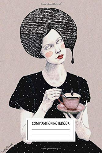 Composition Notebook: Contemporary Art Nina In Black Girls Wide Ruled Note Book, Diary, Planner, Journal for Writing