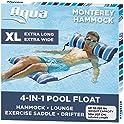 Aqua LEISURE 4-in-1 Monterey Hammock XL Inflatable Pool Chair