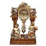 HongTeng Estilo Europeo Reloj Dormitorio Sala de Estar decoración del Reloj idílico...