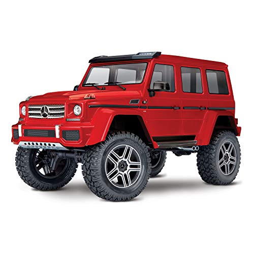 Traxxas 82096-4-REDU TRX-4 Scale and Trail Crawler Mercedes Benz 500 4x4 Replica with Remote Control, Red