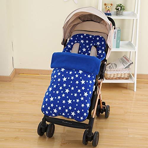 Cochecito Manguitos del pie para cochecitos, Mamas & Papas bebé Fundamentos Saco para Cochecito de niño/Conector Universal para sillas de Paseo cochecitos cochecitos de niño con Errores,Azul
