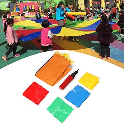 wosume Juego de paracaídas al Aire Libre, niños juegan paracaídas Multicolor Niños Juego de Desarrollo de Ejercicios al Aire Libre Juguete