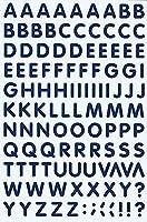 (シャシャン)XIAXIN 防水 PVC製 アルファベット ステッカー セット 耐候 耐水 ローマ字 キャラクター 表札 スーツケース ネームプレート ロッカー 屋内外 兼用 TS-541 (1点, ネイビー)