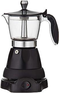 LEAF & BEAN Electric Espresso Maker Electric Espresso Maker, Black/Silver, DLE0073