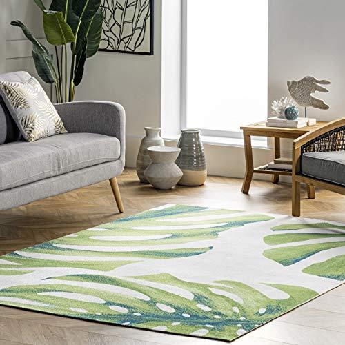 nuLOOM Dewey Tropical Indoor/Outdoor Area Rug, 8' x 10', Green