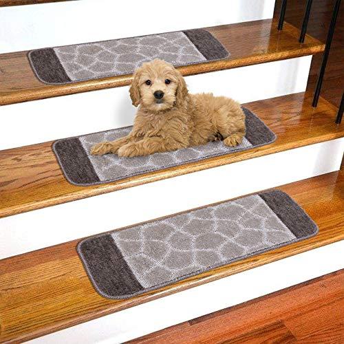 Millenium Stair Tread Treads Greek Key Design Indoor Skid Slip Resistant Carpet Stair Tread Treads Greek Key Design Machine Washable 8 /½ inch x 30 inch 1 Piece, Meander Beige