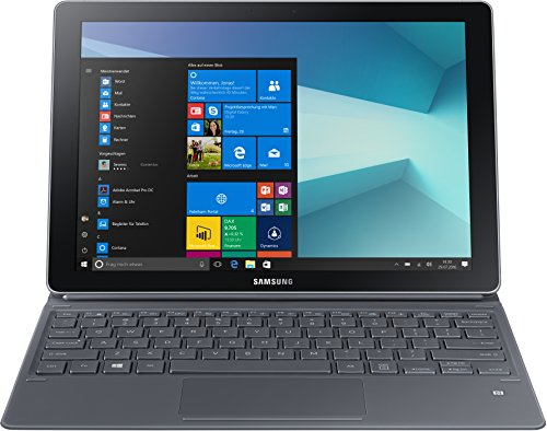 Samsung Galaxy Book W728 30,44 cm (12 Zoll) LTE Convertible Tablet PC (Intel Core i5 7200U, 8GB RAM, 256GB SSD, Intel HD 620, Windows 10 Pro) silber