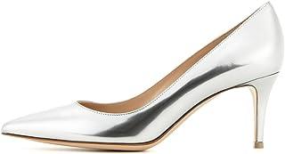 EDEFS - Escarpins Femme - 6 cm Kitten-Heel Chaussures - Bout Pointu Fermé - Classique Bureau Soiree Shoes