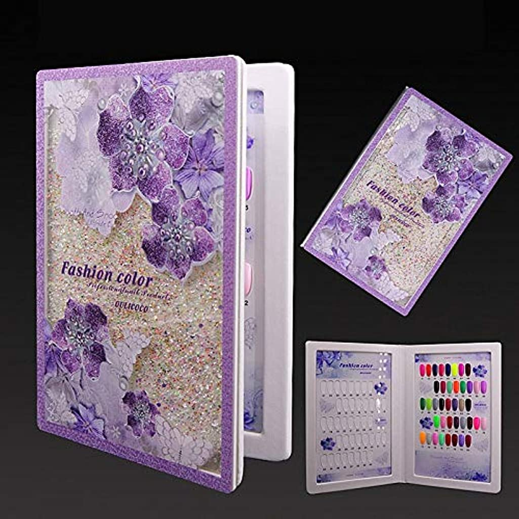 80 Colors Nail Display Book Gel Polish Art Card Book Acrylic Beauty Purple Nail Salon Colors Showing Board Chart Manicure tools