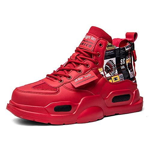 SANNAX Zapatillas de Deporte de Moda para Hombre Zapatillas Altas Zapatillas de Correr Casuales Zapatos Ligeros y Transpirables para Caminar Zapatillas Deportivas Antideslizantes Bbotas