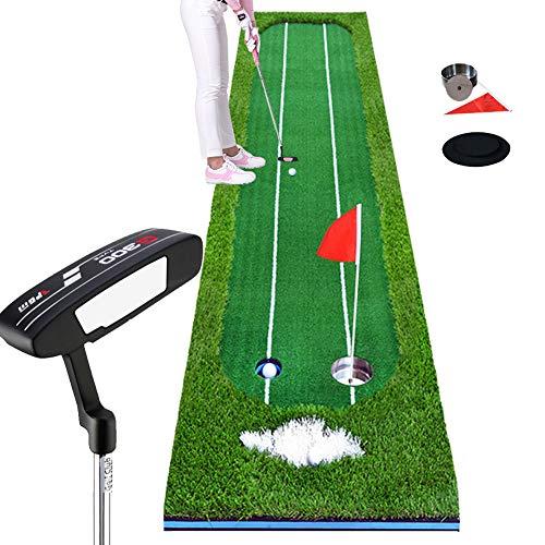 Vierkleurige Gras Gemaakt Golf Indoor Groen/Indoor Putter/Golf Groenen/Gesimuleerde Bunker/Groene Gat Beker, Kleine Rode Vlag/Twee Witte Hulplijn
