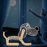 Lampada Da Tavolo Pieghevole A Led Per Cuccioli Con Luce Notturna 3D