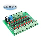 YEMIUGO Optocoupler Isolator Board 3.3V to 24V 8-Channel PLC Signal Converter Module 8Bit PNP Output Level...