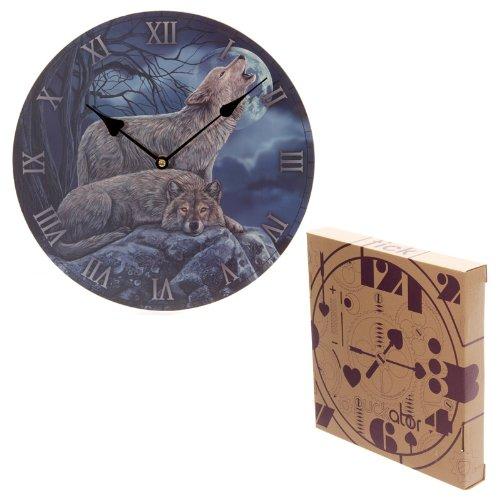 Puckator CKP76 Lisa Parker Uhr, Wolfsmotiv, 3x30x30cm