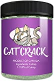 Cat Crack Catnip, Premium Blend Safe for Cats, Infused with Maximum Potency Your Kitty is Sure to Go Crazy for (1 Cup)