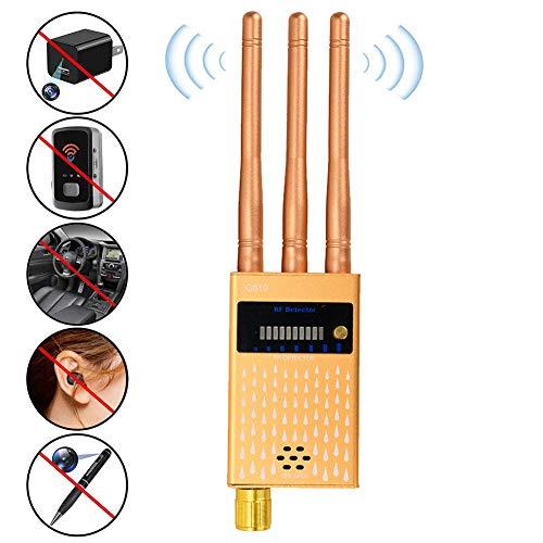 Heatile Detector De Micrófonos Ocultos Microespías Detector Anti-Espía De RF para GPS/Cámara Espía Inalámbrica 1.2G y 2.4G/Fuentes de Radiación
