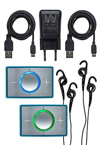 Ceecoach 2 Duo Bluetooth Kommunikation Und Gegensprechanlage Für Reitsport, Wintersport, Industrie, türkis