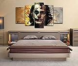 QMCVCDD 5 Piezas De Pared Fotos Cuadros En Lienzo Bufón HD Imprimir Modern Artwork Decoración De Arte De Pared Living Room 5 Piezas Artística Cuadros
