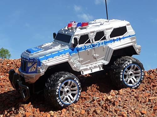 RC Auto kaufen Monstertruck Bild 6: RC Jeep SWAT POLICE mit LICHT & AKKU 1:12 Länge 39cm Ferngesteuert 27MHz*