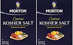 Pack of 2 Table salt mixed with iodine to prevent goiter and anti-caking agent Contains no additives Coarse kosher salt