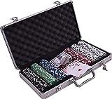4everWithU Partido de la Tarjeta Shandaar Set Poker (Rojo, Pack de 300) FZC # 700