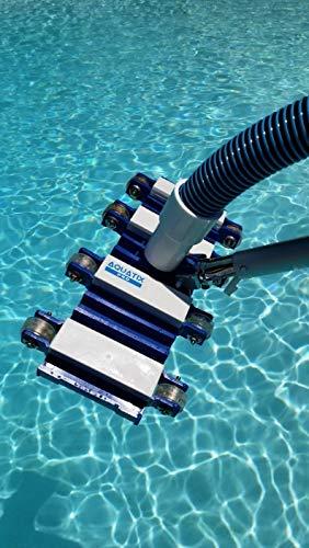 Aquatix Pro Pool Vacuum Head with Wheels, 14