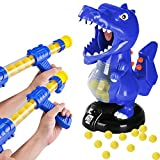Dinosaur Shooting Game with 2 Air Pump Guns and 48 Foam Balls,Target Shooting Toy,Party Games with LCD Score Record and Funny Sound , Electronic Target Practice Toys for Boys and Girls 3 Years and Up