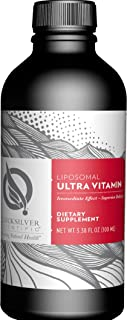 Quicksilver Scientific Liposomal Ultra Vitamin - Liquid Multivitamin Supplement with Active B Vitamins, 2500 IU Vitamin D3...
