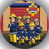 Fondant Tortenaufleger Tortenbild Geburtstag Feuerwehrmann Sam T54