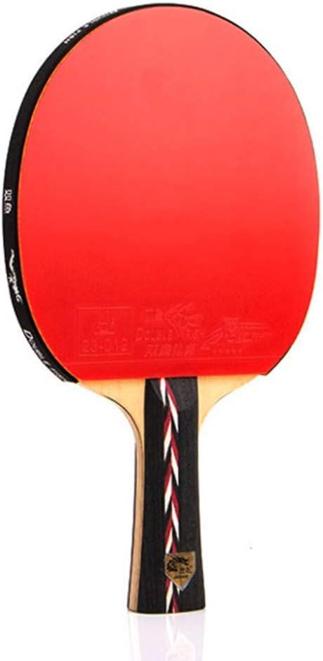 KCGNBQING Bate DE Penis DE Mesa Profesional con Caso, Piedra DE Ping Pong Ping, for Jugadores DE INTERMEDIO Y AVANZADO/como SE MUESTRADA/Mango Largo