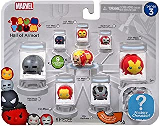 Marvel Avengers Iron Man Hall of Armor Series 3 Tsum Tsum Minifigure 9-Pack
