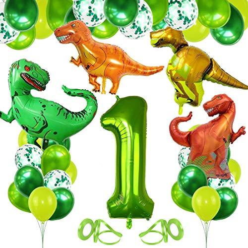 Bluelves Dinosaur Party Decorations, 1st Birthday Balloons Green, 1st Birthday Decorations for Boys, 1 Balloon Foil , Dinosaur Balloon Kit, Dinosaur Party Supplies