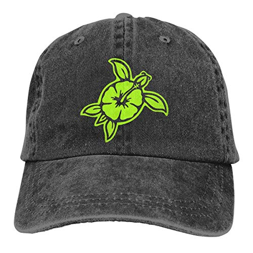 Hawaiian Sea Turtle Island Flower Uomo Donna Berretti da Baseball Regolabili Denim Fabric Hip-Hop cap