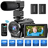 Video Camera Camcorder YouTube Vlogging Camera FHD 1080P 30FPS 24MP 16X Digital...