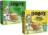 Bobo's Oat Bars Gluten Free Bobo's Bites 2 Flavor Variety Bundle, (1) each: Coconut and Lemon Poppyseed (6.5 Ounces)