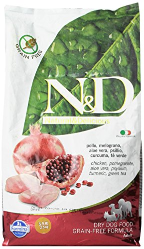 Hundefutter Trockenfutter N&D Huhn & Granatapfel, Getreidefrei - Natural & Delicious Farmina (2500 Gramm)