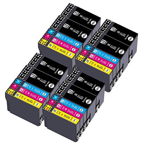 Teland 27XL Sostituzione per Epson 27 27XL Cartucce d'inchiostro per Epson Workforce WF-3620 WF-3640 WF-7110 WF-7610 WF-7620 WF3620 WF3640 WF7110 WF7610 WF7620 (8 Nero, 4 Ciano, 4 Magenta, 4 Giallo)