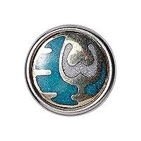 Noosa petite Chunk DZI Nectar türkis silver metal