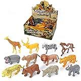 AWIIK – Jungle Animals Juguetes de Animales de la Selva para niños de 3 4 5 6 7 y 8 años de Edad Juego de Figuras de Animales de plástico Salvajes de la Jungla Juguetes educativos interactivos