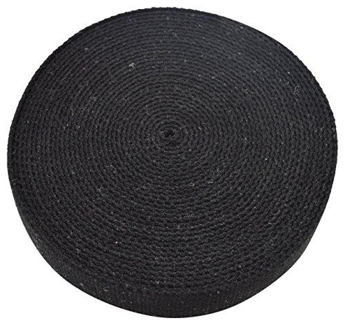 Trimit, Rotolo di fettuccia da 40mm x 10 m, in Cotone Nero