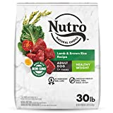 NUTRO NATURAL CHOICE Healthy Weight Adult Dry Dog Food, Lamb & Brown Rice Recipe Dog Kibble, 30 lb. Bag
