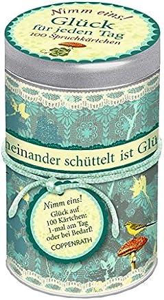 Sprüchedose Ni eins! Glück für jeden Tag 100 Spruchkärtchen by Gerlinde Wermeier-Kemper