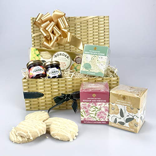 """ Tea TimeTreats"" Hamper Gift Box -Teas, Jam, Biscuits. Any Occasion - Birthday - Get Well - Corporate - Valentine's Day -Mother's Day - Easter - Thank You - New Home - Get Well"
