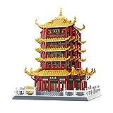 Sammlung Block Kit - Architektur Modell World Famous Landmark 2912PCS Bausteine Kits, BAU Pädagogische DIY Spielzeug Geschenk (Yellow Crane Tower)