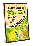 TypeStoff Holzschild mit Spruch – Zitronen – im