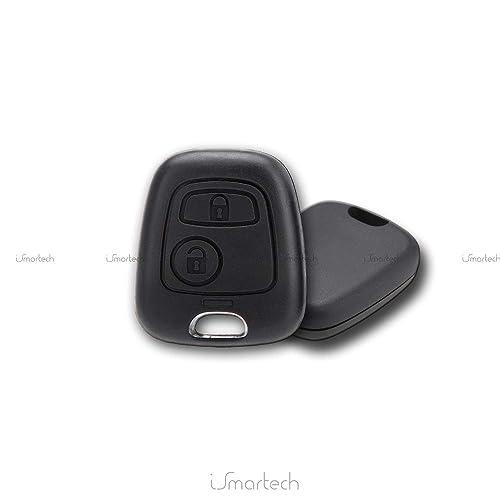 Chiavit - Carcasa de recambio para mando a distancia de coche, con 2 botones,