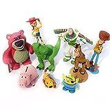 9 Unids / Set Toy Story Woody BuzzLightyearJessie Hamm Cerdo Perro Oso Dinosaurio Figura De Acción3-9Cm, Modelo De Juguetes De Historia para Niños Regalo De Cumpleaños
